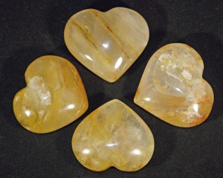 Golden Healer Quartz Heart - Small - Heavenly Crystals Online