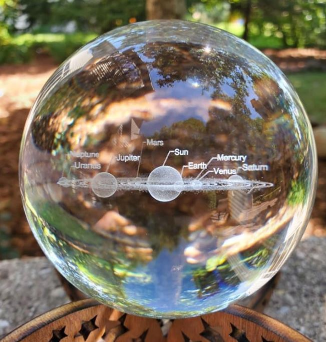 Solar System 3D Planets Sphere - 275 grams - Heavenly Crystals Online