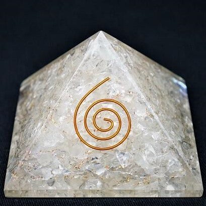 Clear Quartz Orgonite Crystal Pyramid - 190 grams