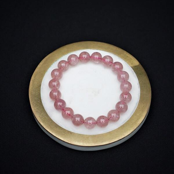 Strawberry Quartz Bracelet - 10mm - Heavenly Crystals Online