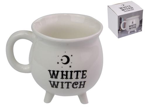 White Witch Brew Cauldron Mug in Gift Box - Heavenly Crystals Online