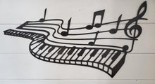 Load image into Gallery viewer, Metal Piano music notes