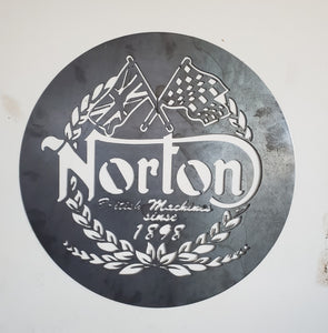 Vintage Replica Norton Sign