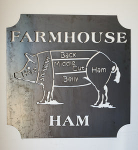 Farm House Ham sign