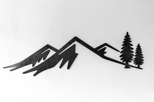 "Custom CNC Plasma cut ""Mountain Scene"""