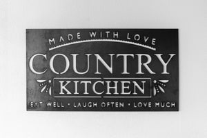"The ""country kitchen sign"""
