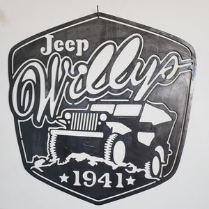 "Jeep ""Willy's"" Sign"