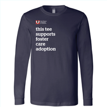 Load image into Gallery viewer, Supports Foster Care Adoption Long Sleeve