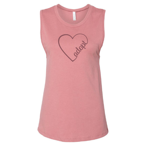 Heart Adopt Muscle Tank