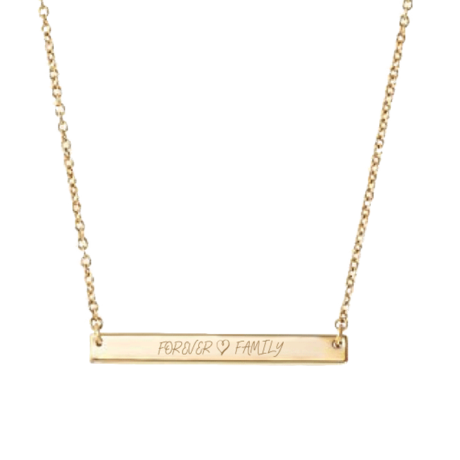Forever Family Gold Bar Necklace