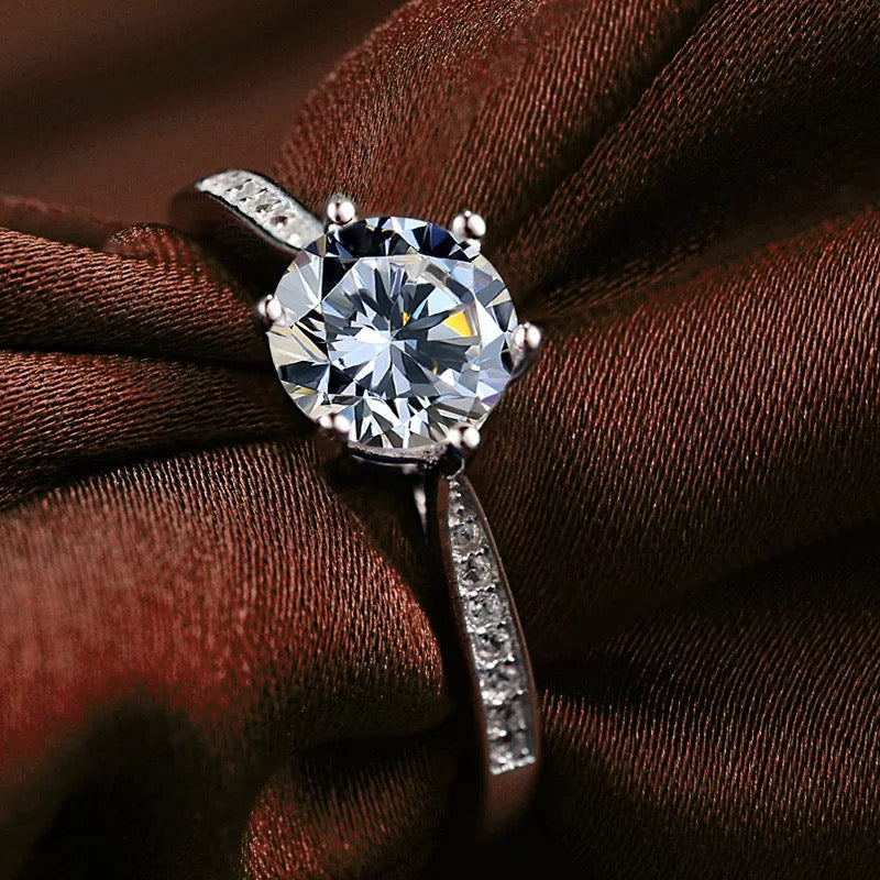 Six Clawed Zircon  Ring (Adjustable)