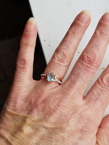 Image of Engagement Wedding Rings(Rose Gold)