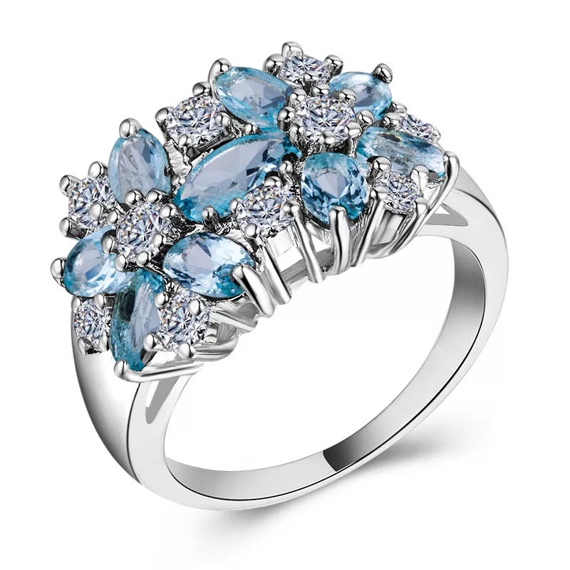 Flower Shaped Crystal Wedding Ring Invent Trend Hunter