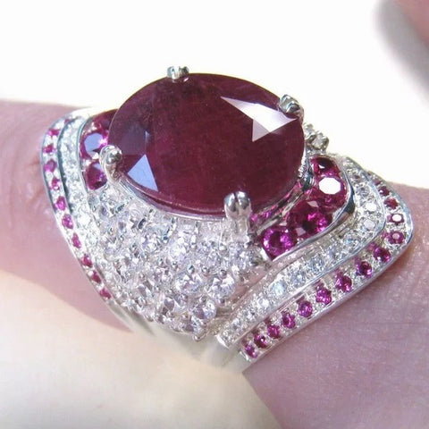 Image of Women's Ruby Gemstone Ring