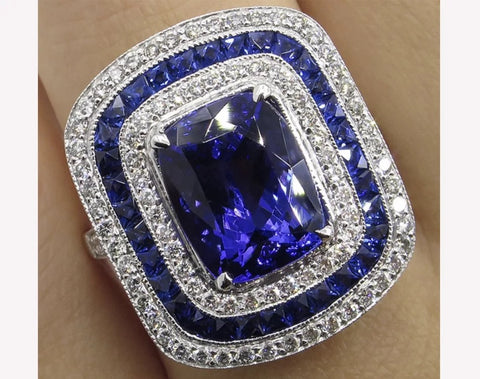 Image of Big Antique Sapphire Ring