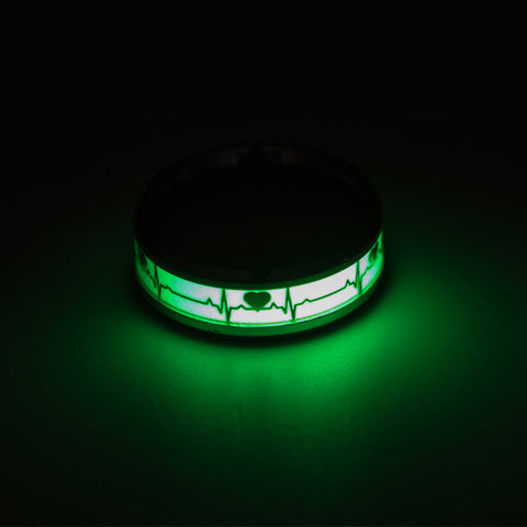 Glowing In Dark Punk Couple Ring