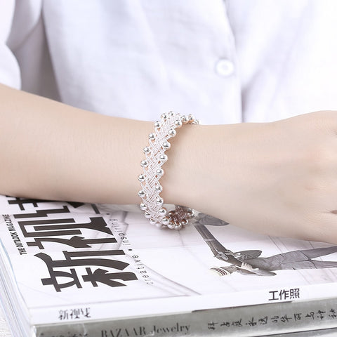Image of 925 Jewelry Silver Plated Bracelet(8')