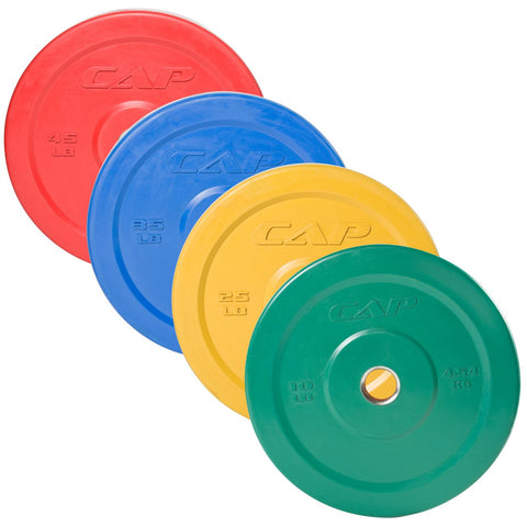 45lb RED Cap Colored Bumper Plates