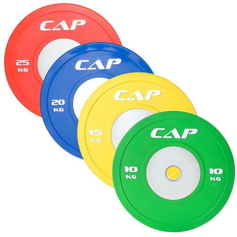 10KG GREEN Cap Colored Bumper plates
