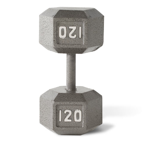 120lbs Hex Dumbbell with Straight Handle