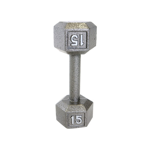 15lbs Hex Dumbbell with Straight Handle