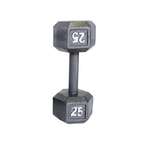 25lbs Hex Dumbbell with Straight Handle