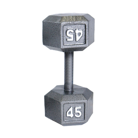 45lbs Hex Dumbbell with Straight Handle