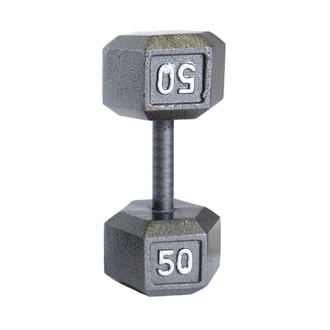 50lbs Hex Dumbbell with Straight Handle