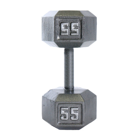 55lbs Hex Dumbbell with Straight Handle