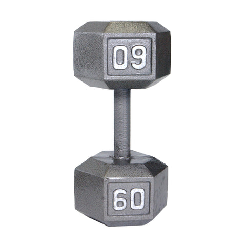 60lbs Hex Dumbbell with Straight Handle