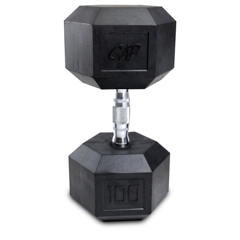 100lb Rubber Hex Dumbbell