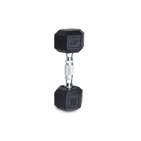 10lb Rubber Hex Dumbbell