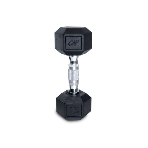 15lb Rubber Hex Dumbbell