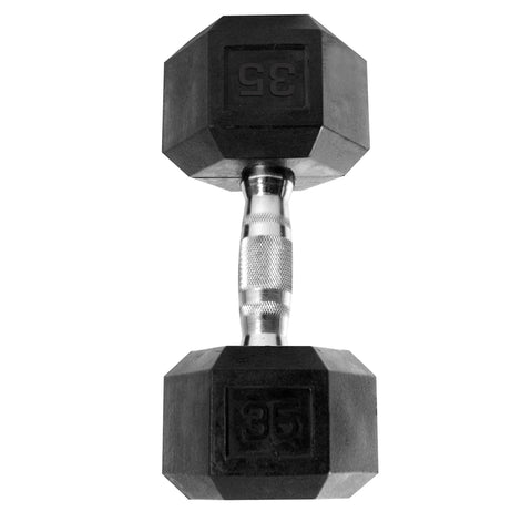 35lb Rubber Hex Dumbbell