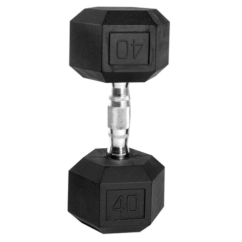 40lb Rubber Hex Dumbbell