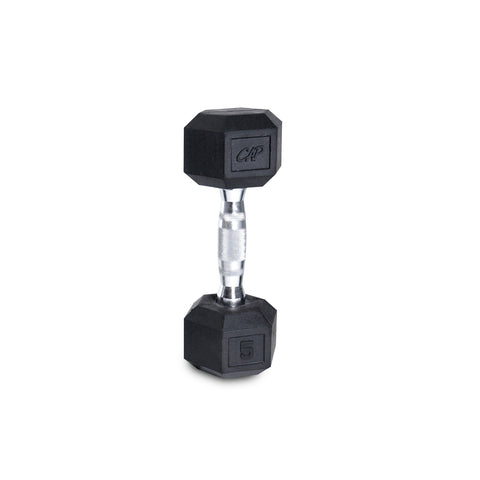 5lb Rubber Hex Dumbbell
