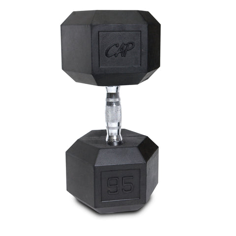 95lb Rubber Hex Dumbbell
