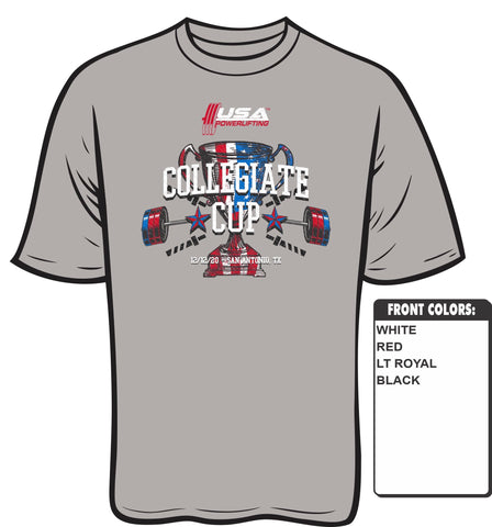 2020 USAPL Collegiate Cup meet shirt
