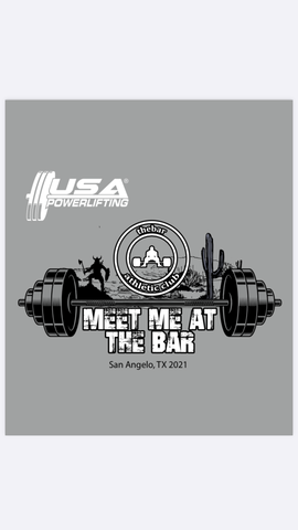 2021 USAPL Meet Me at the Bar meet shirt