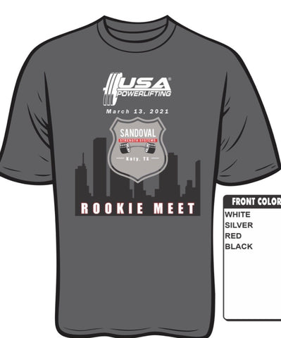 2021 USAPL Sandoval Strength Systems Rookie Meet shirt