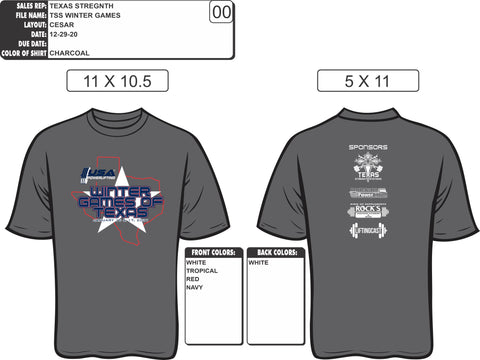 2021 USAPL Winter Games of Texas meet shirt