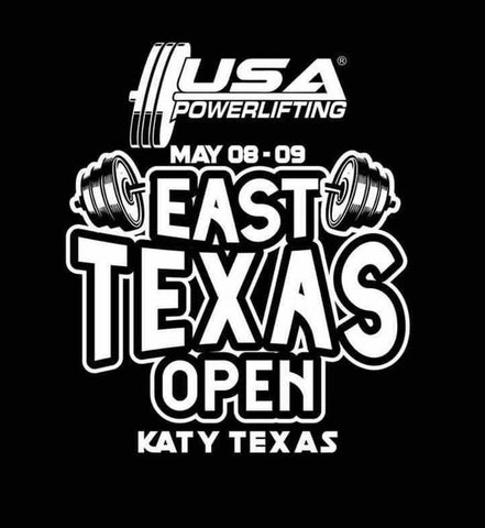 2021 USAPL East Texas Open meet shirt