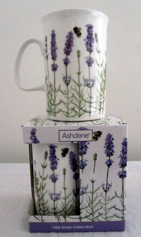 Lavender-design Tea mug