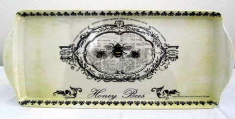 Honey Bees-design Bone china melamine Sandwich Tray
