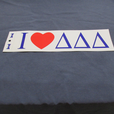 "Bumper Sticker with Greek Letters ""I Heart""  CLOSE OUT!"