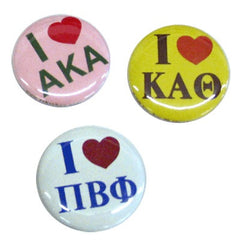 I Heart Sorority Buttons