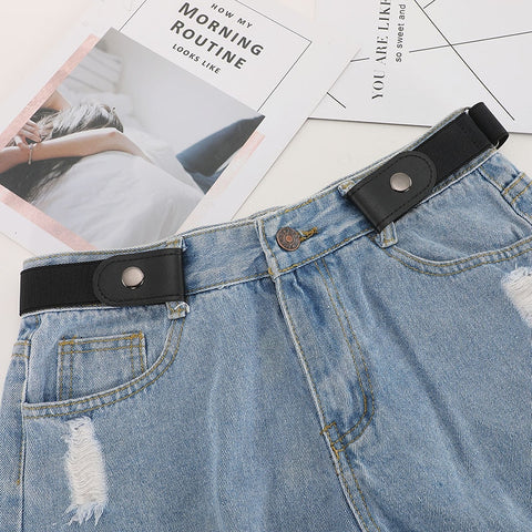 Buckle-Free Unisex Elastic Waist Belt For Jean Pants