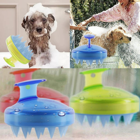 Image of 1Pc Salon Hair Spa Shampoo Brush - Grooming Brushes for Pets