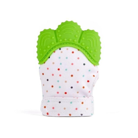 Image of baby gloves silicone baby teething mitt