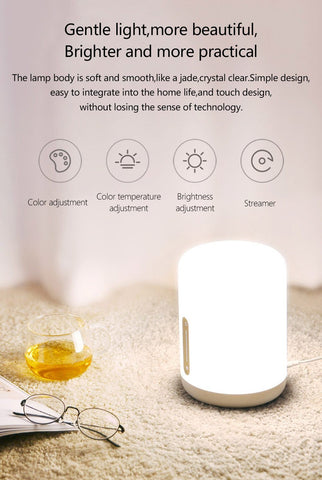 Image of QUALITY BEDSIDE BLUETOOTH & WIFI TOUCH PANEL LAMP